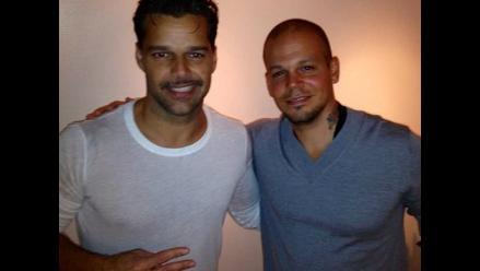 Ricky Martín recibió visita de René Pérez en Broadway