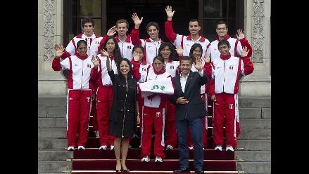 Equipo olímpico fue despedido por el presidente Ollanta Humala
