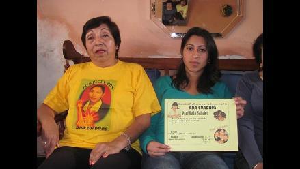 Familia de Ada Cuadros inicia cruzada para reunir fondos de su defensa
