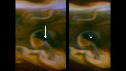 Captan relámpago gigante en Saturno