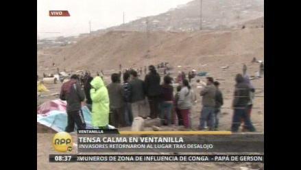 Invasores regresan al lugar del desalojo en Ventanilla