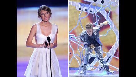 Justin Bieber y Taylor Swift brillan en los Teen Choice Awards 2012