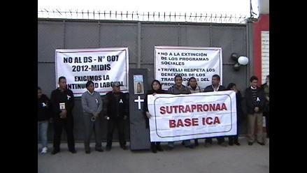 Ica: Trabajadores del Pronaa piden estabilidad laboral con vigilia