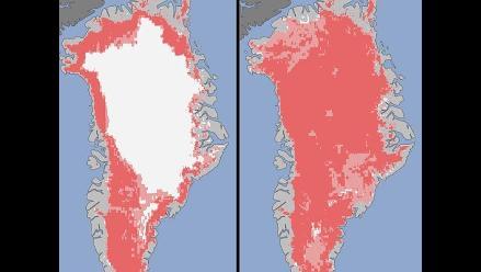 Nasa revela imagen del rápido deshielo en Groenlandia