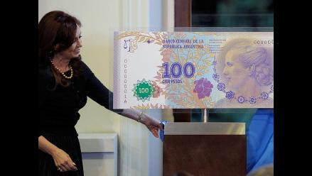 Nuevo billete de 100 pesos con rostro de ´Evita´ en Argentina