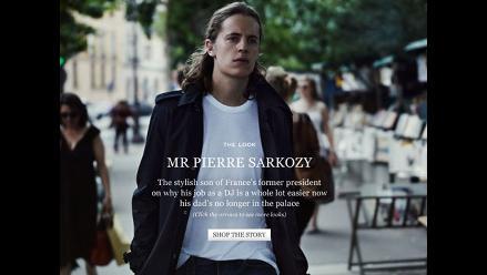 Pierre Sarkozy se luce como modelo en una revista de moda