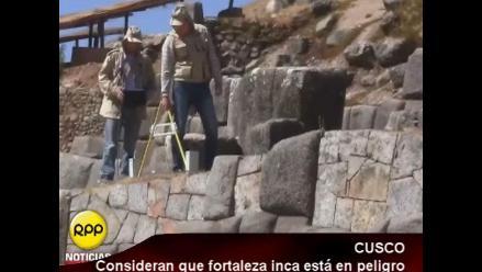Cusco: Consideran que fortaleza de Sacsayhuamán se encuentra en peligro