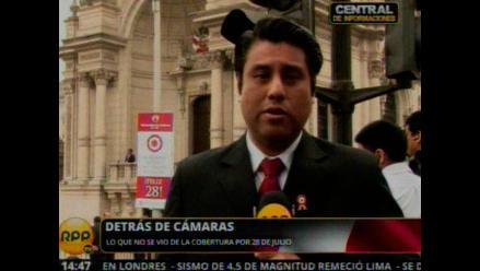 Detrás de cámaras: Despliegue periodístico por Fiestas Patrias