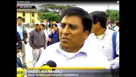 Cajamarca: Anuncian paro en rechazo a prórroga de estado de emergencia