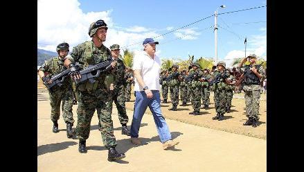 Ministro de Defensa inspeccionó bases militares en el Vraem