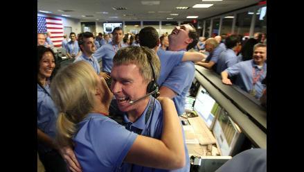 Así celebró la NASA la exitosa llegada de ´Curiosity´ a Marte