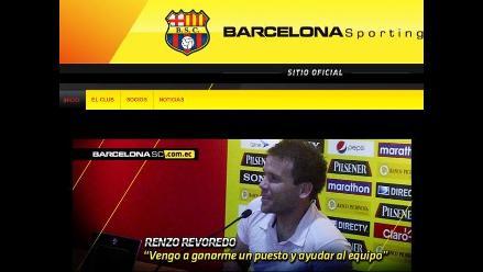 Revoredo fue presentado en Barcelona: Este es un gran reto en mi carrera