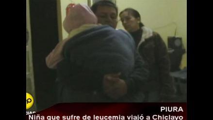 Piura: Niña que sufre de leucemia viajó a Chiclayo