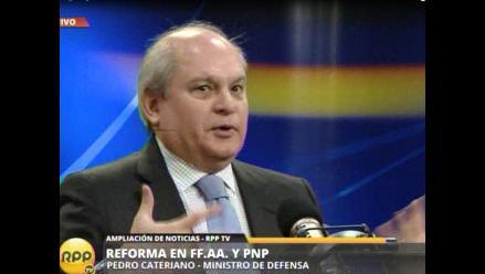 Cateriano defiende reforma del Interior y Defensa