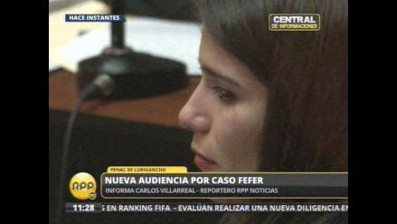 Eva Bracamonte se quebró en nueva audiencia del caso Fefer