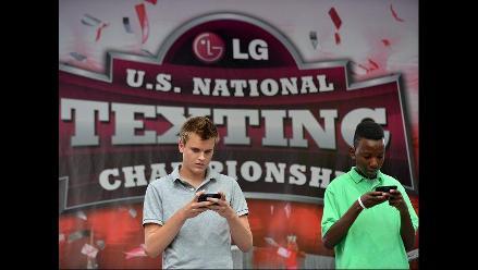 Insólito campeonato de mensajes de texto en EE UU