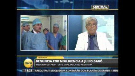 Denuncian a Julio Gagó por negligencia en Hospital Almenara