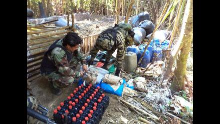 Huánuco: Destruyen dos laboratorios de PBC en el distrito de Monzón