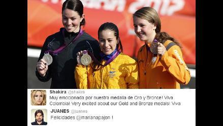 Artistas colombianos felices con primera medalla de oro en Londres 2012