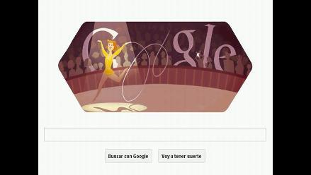 Penúltimo doodle olímpico de Google está dedicado a la gimnasia rítmica