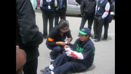 Huancayo: Con caravana motivan a la población a participar en simulacro