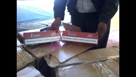 Tacna: Incautan más de 3 mil cajetillas de cigarros en Ciudad Nueva
