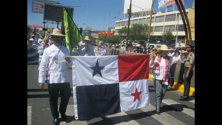 Delegaciones extranjeras presentes en Corso de la Amistad de Arequipa