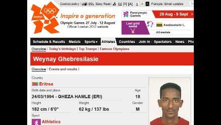 Abanderado de Eritrea Ghebrselassie pide asilo político en Reino Unido