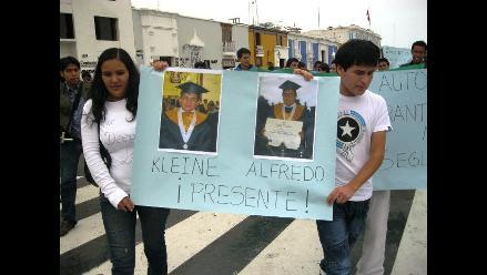 Trujillo: Universitarios se movilizaron contra crimen de ingenieros