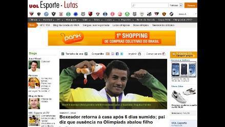 Boxeador brasileño reaparece tras superar crisis por no ir a Londres 2012