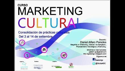 Curso de Marketing Cultural, para la consolidación de las prácticas culturales