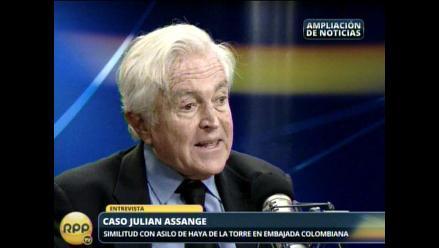 Valle Riestra: Assange sólo puede estar a buen recaudo en Ecuador