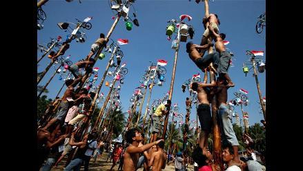 Singular celebración por el 67° aniversario de Indonesia