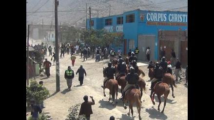Fuerte conflicto limítrofe dejó heridos en sector 8 de Jicamarca