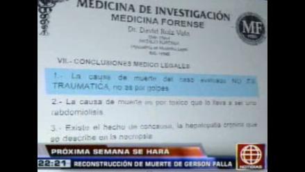 Defensa de policía asegura que Falla murió por consumo de cocaína
