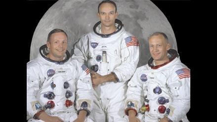 Armstrong junto a Collins y Aldrin, los primeros en alunizar