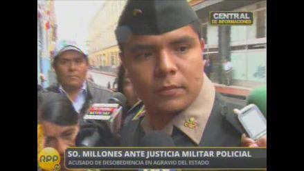 Suboficial PNP Millones comparece ante Fiscalía Militar Policial