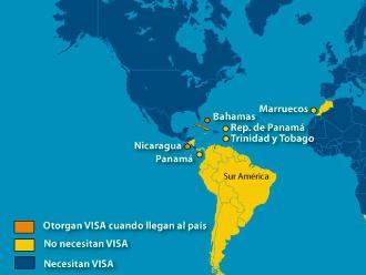 Sepa cuáles son los países que no exigen visa al Perú