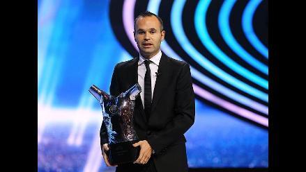 Andrés Iniesta elegido como el mejor jugador de Europa