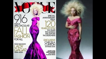 Lady Gaga fue retocada para portada de la revista Vogue