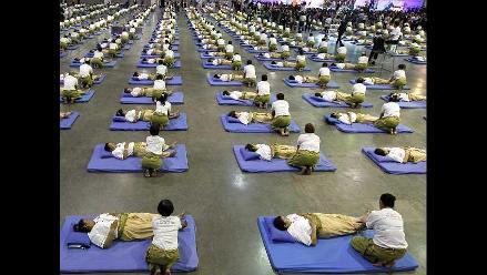Rompen record al mayor número de masajes sincronizados en Tailandia