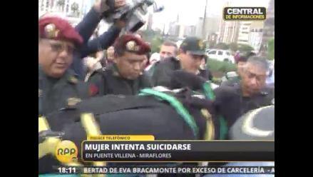 Mujer intentó suicidarse en Malecón Balta de Miraflores