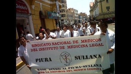 Piura: Médicos legistas acatan paro de 48 horas