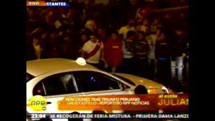 Miraflores: Hinchas causan disturbios tras victoria de selección