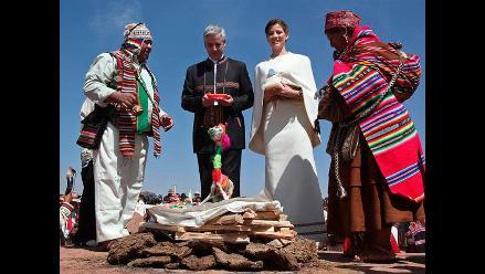 Vicepresidente boliviano y periodista se casan con ritos indígenas