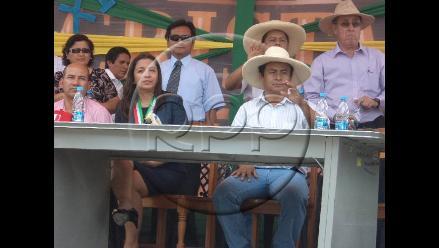 Jaén: Vicepresidenta Espinoza coincidió con Gregorio Santos en evento