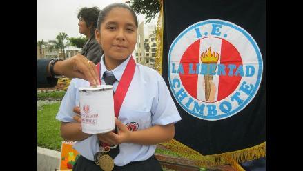 Chimbote: Campeona en ciencias realiza colecta para viajar a Brasil
