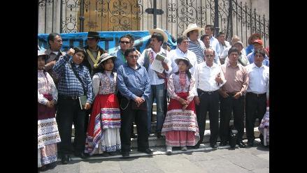 Pobladores y autoridades de Caylloma se movilizaron en Arequipa