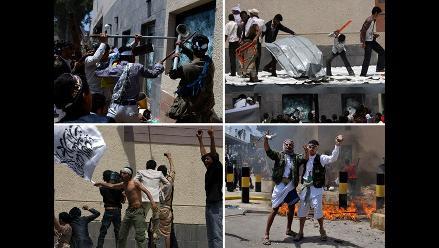 Violentas manifestaciones contra la embajada de EE.UU. en Yemen