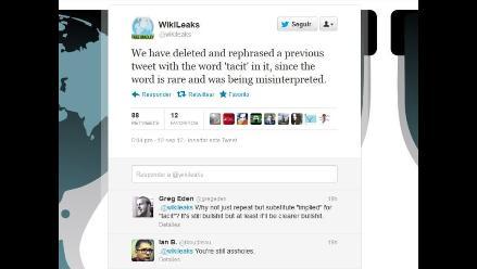 Polémica por tuits de WikiLeaks sobre ataques a embajadas